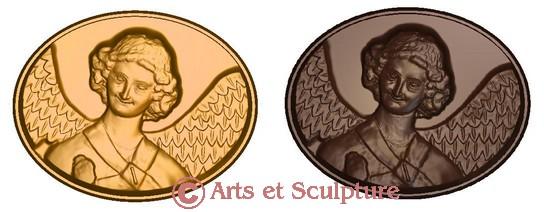 Copie miniature en bas-relief de l`Ange au sourire de Reims pour la réalisation de moules à chocolats - Arts et Sculpture: sculpteur, mouleur, artisan d`art