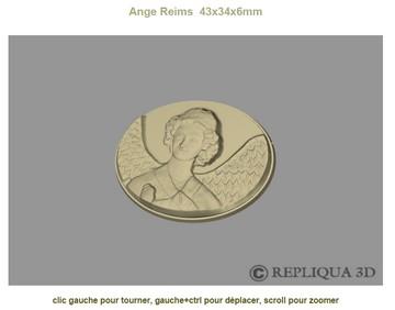 Fichier 3D manipulable du projet de chocolat Ange au sourire de Reims