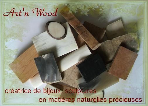Art`n Wood, créatrice de bijoux artisanaux, sculptures et cadeaux d`art en matières précieuses naturelles. Sculptrice sur bois, os, corne, bronze, créations sur-mesure et personnalisées
