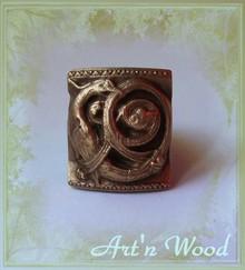 Bijou artisanal d'inspiration médiéval Griffon en bronze massif patiné - Art'n Wood, artisan créateur