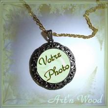 bijou pendentif personnalisé photo portrait camée vintage fantaisie féminin raffiné - Art`n Wood: bijoux de créatrice, cadeaux sur-mesure, petit prix, original, unique, romantique, élégant, féminin