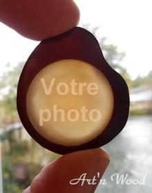 Bijou pendentif ou porte-clefs en ivoire végétal personnalisé- LTP27