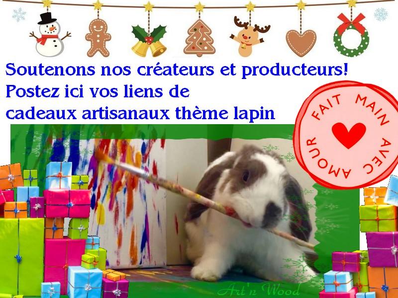 Annuaire de créateurs inspirés par les lapins, cadeaux lapin artisanaux, achetez local, artisans solidaires