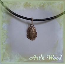 mini-bijou charm breloque scarabée egyptien en bronze doré - Art`n Wood: créatrice de sculptures, bijoux artisanaux, cadeaux personnalisés