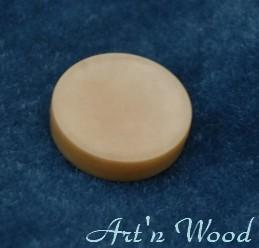 ancien jeton de jeu de Dame en corozo ou ivoire végétal - Art'n Wood, sculpteur, créatrice de bijoux artisanaux