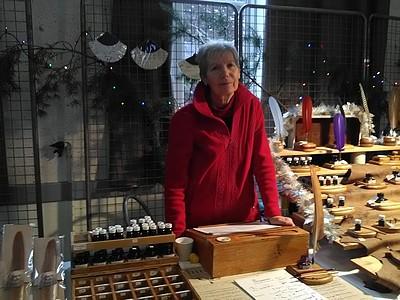 marché de Noël 2019 St Claude calligraphie