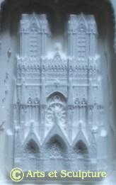 Copie miniature en bas-relief de la Cathédrale de Reims pour la réalisation de moules à chocolats - Arts et Sculpture: sculpteur, mouleur, artisan d`art
