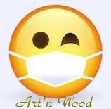 smiley masque Art`n Wood bijoux