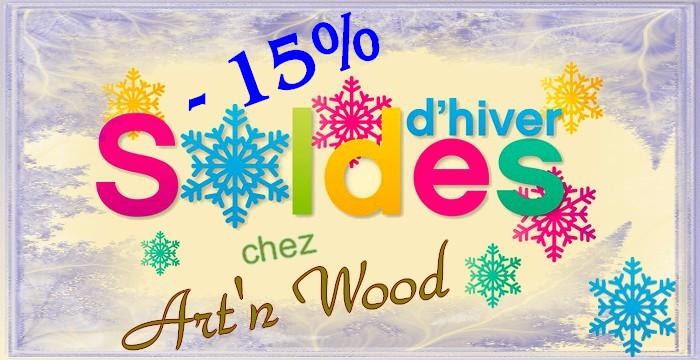 Soldes d`hiver chez Art`, Wood, 15% de réduction sur toutes mes créations! Faites-vous plaisir à petit prix avec des créations artisanales, faites main, made in France, cadeaux uniques personnalisés